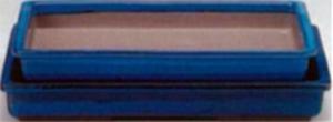 עציץ בונסאי יפני מלבני כחול גדול 13