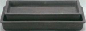 עציץ בונסאי יפני מלבני חום ללא גלזורה גדול 1