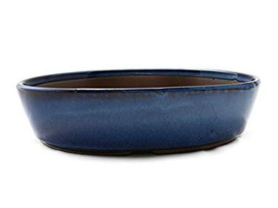 עציץ בונסאי יפני אובלי כחול 2